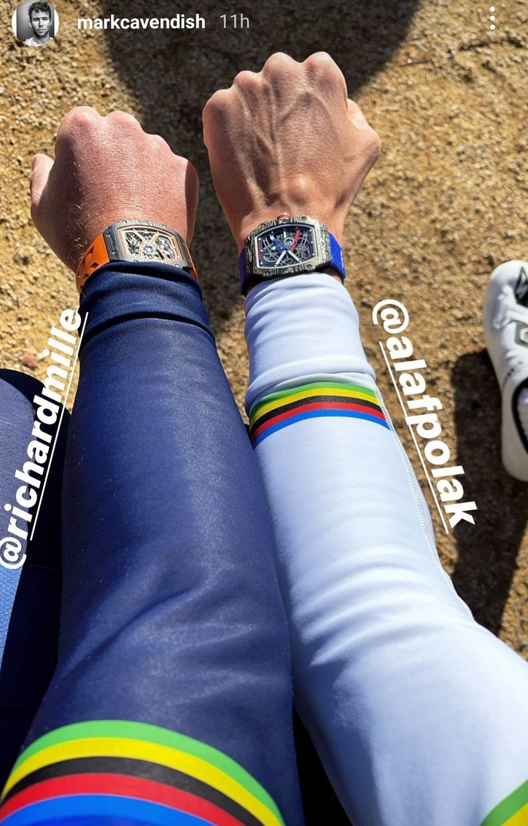 Cavendish and Alaphilippe watches 1